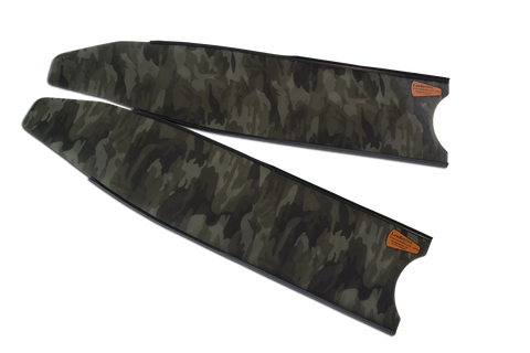 Leaderfins Green Camo Stereoblades Fins from Leaderfins - Red Triangle Spearfishing