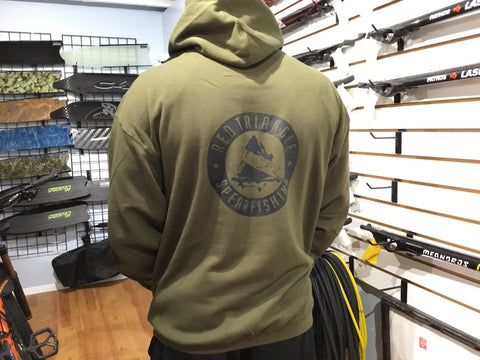 Military green hoody  from Red Triangle Spearfishing - Red Triangle Spearfishing