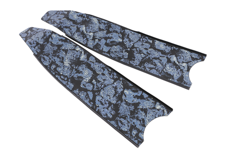 Leaderfins Neo Deep-Blue Carbon Stereoblades Fins from Leaderfins - Red Triangle Spearfishing