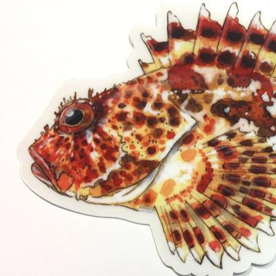 "Sculpin 7"" Stickers from Amadeo - Red Triangle Spearfishing"