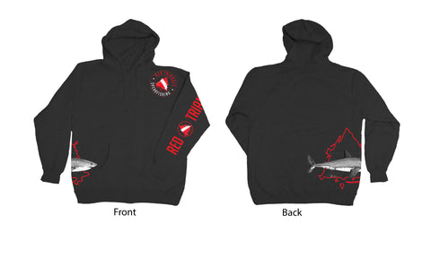 ABachar Red Triangle Zip up Hoodie RTS Swag from Red Triangle Spearfishing - Red Triangle Spearfishing