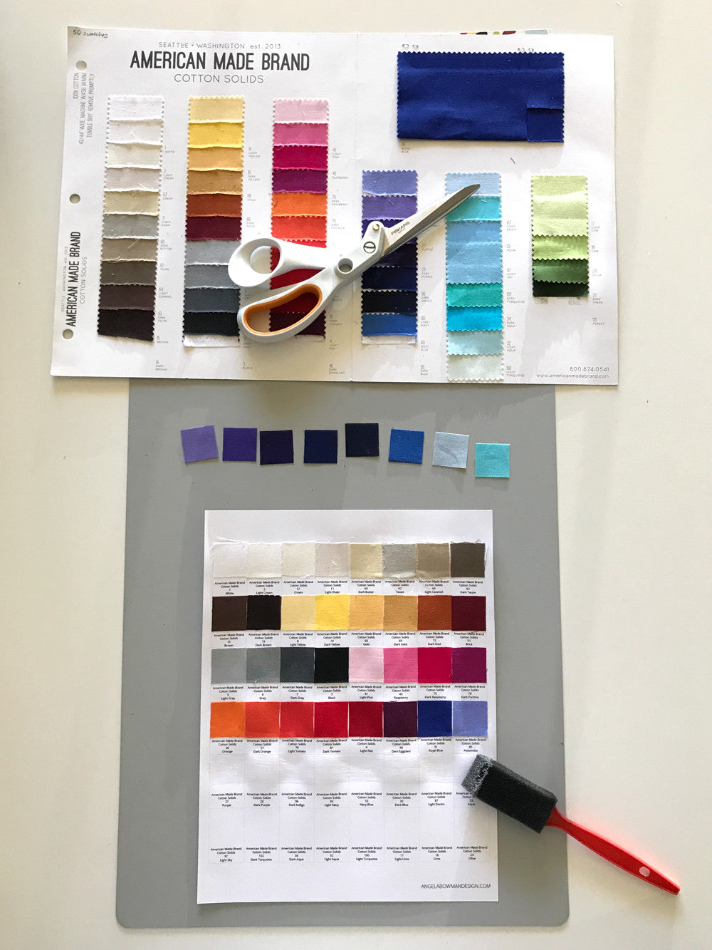 How to Organize Fabric Swatches with Magnets, a tutorial by Angela Bowman of www.angelabowmandesign.com
