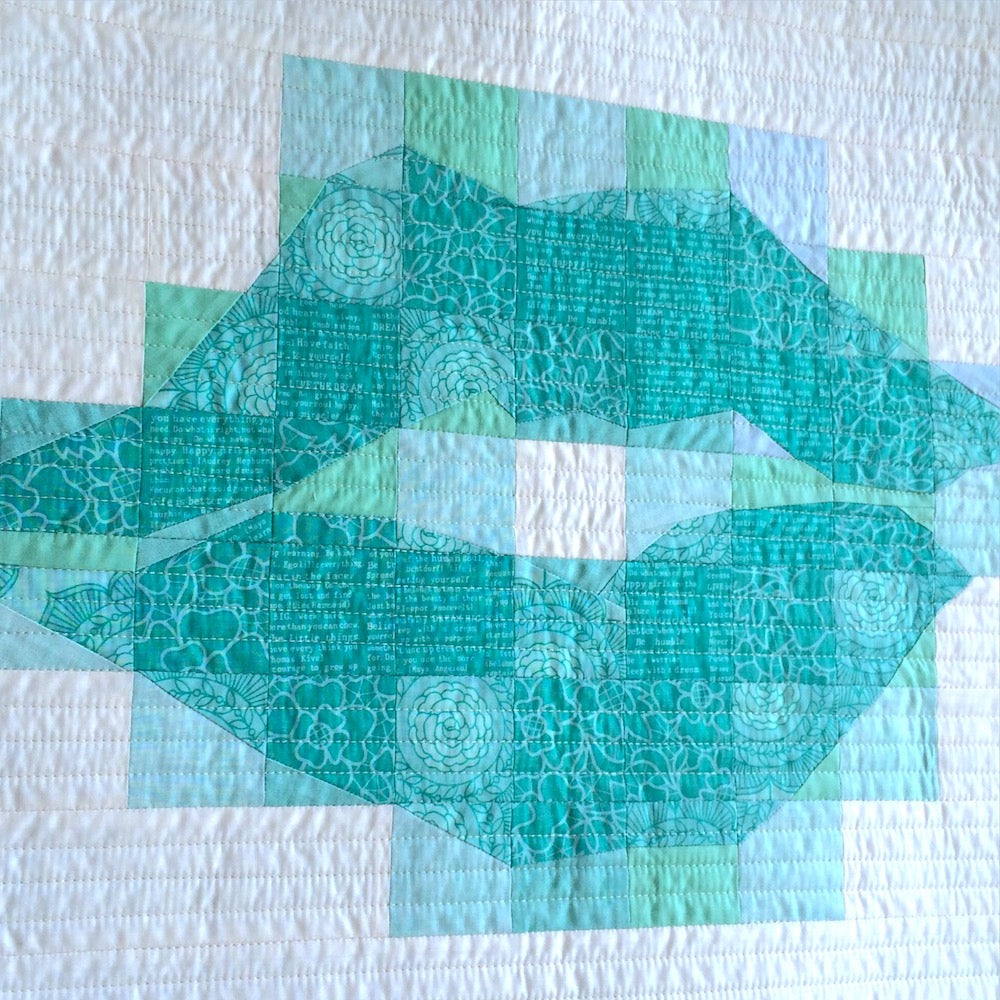 Lips Quilt by Angela Bowman