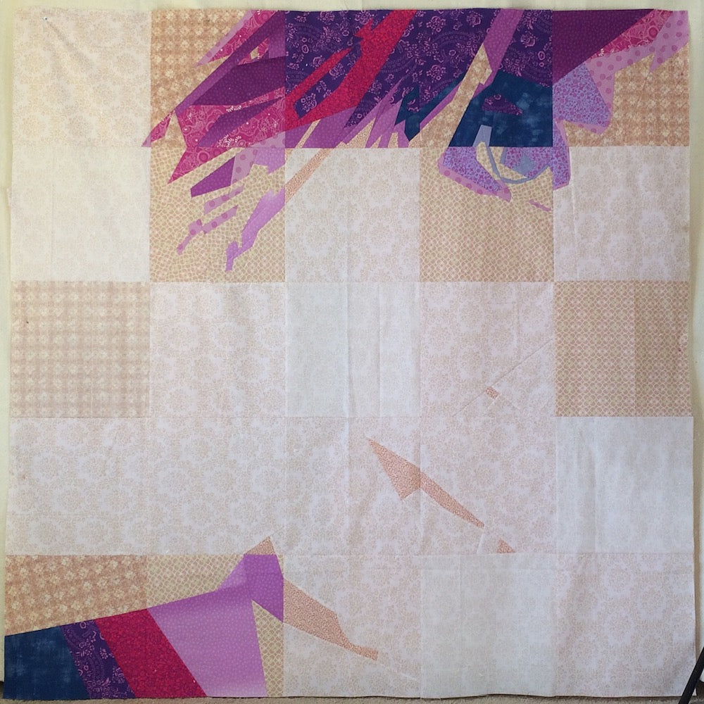 Self Portrait Behind The Pixels Quilt by Angela Bowman