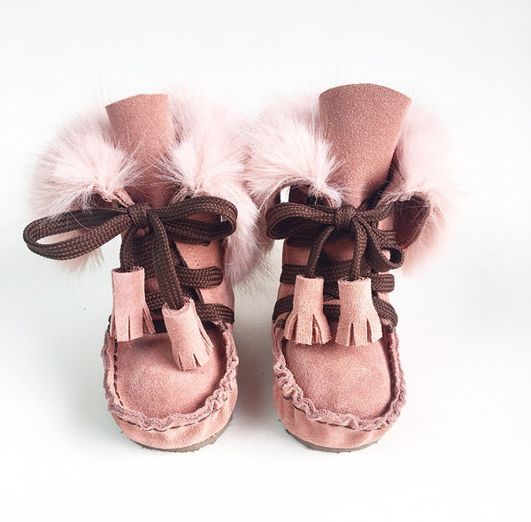 FUR SUEDE LEATHER BOOTS