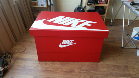 Nike inspired XL Trainer Storage Box - Holds 24no pairs of trainers