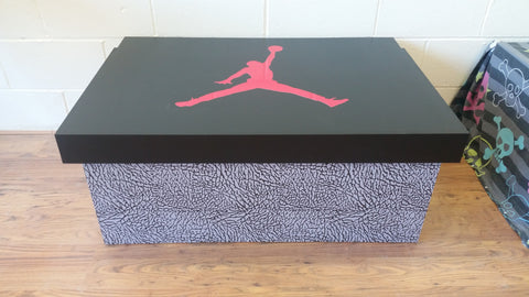 Nike Air Jordan inspired XL Trainer Storage Box - Holds 16no pairs of trainers