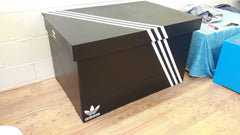 Adidas inspired XL Trainer Storage Box - Holds 24no pairs of trainers