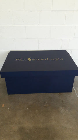Ralph Lauren inspired XL Trainer Storage Box - Holds 16no pairs of trainers
