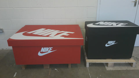 Nike Black inspired XL Trainer Storage Box - Holds 12no pairs of trainers