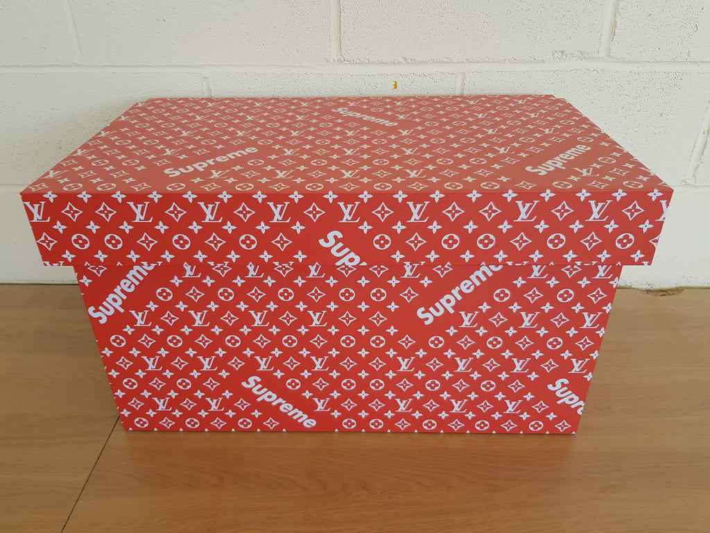 LV Supreme inspired XL Trainer Storage Box - Holds 6no pairs of trainers