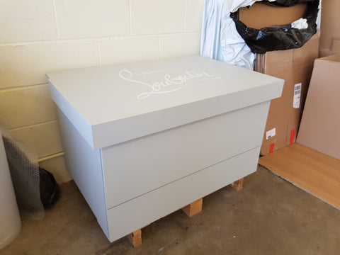 Christian Louboutin inspired XL Trainer Storage Box - Holds 24no pairs of trainers