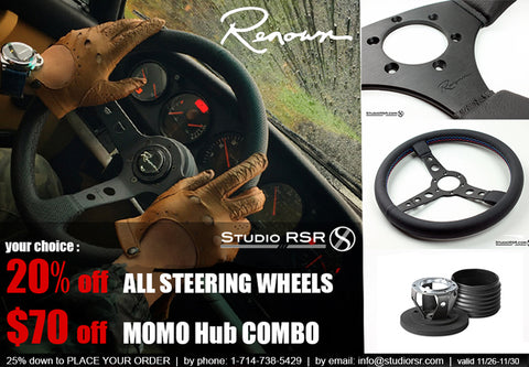 Renown Steering wheels x Studio RSR x MOMO Hub Adapter