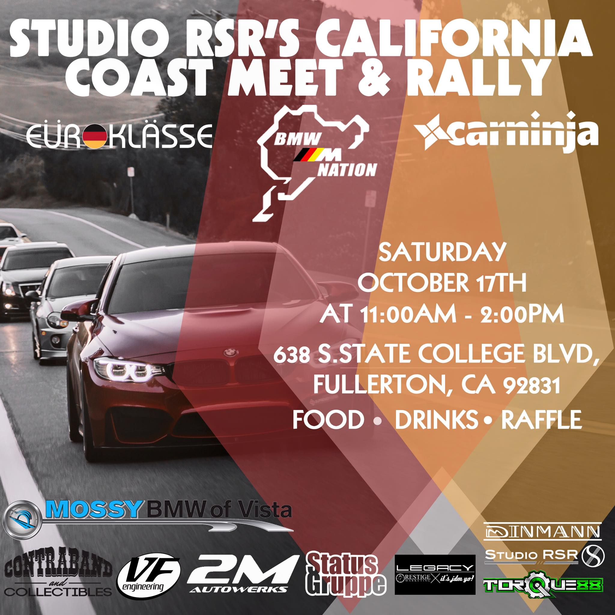 California Coast Rally and Meet at Studio RSR HQ!