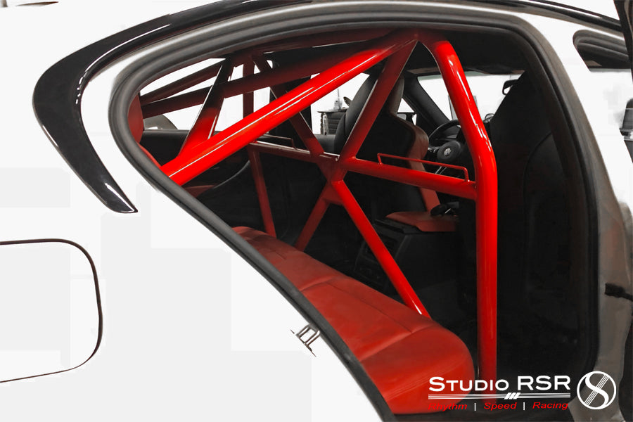 StudioRSR M3 roll cage in PSM F80 M3 widebody
