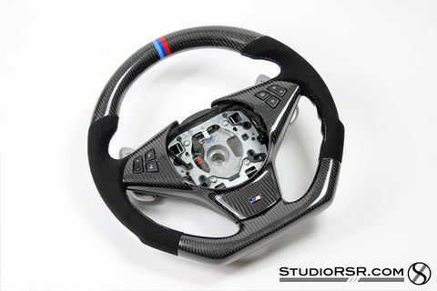 BMW Carbon Fiber Steering wheel for E60 M5 / E63 M6 - Interior - Studio RSR - 1