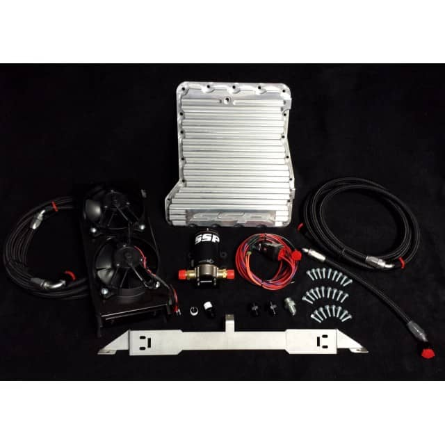 Front Mount Transmission Cooler for a GTR GR6 R35