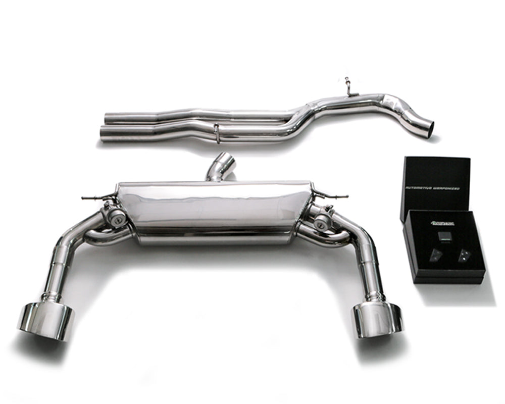 ARMYTRIX Stainless Steel Valvetronic Catback Exhaust System Dual Chrome Silver Tips Audi RS3 8V 2.5L Turbo Sedan 2017-2020
