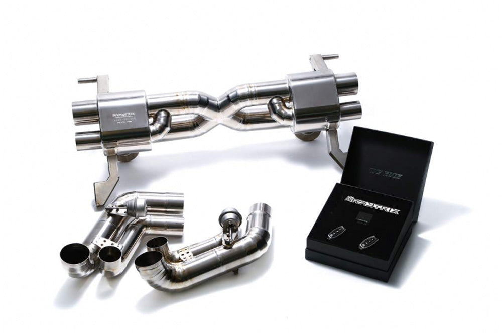 ARMYTRIX Titanium Valvetronic Catback Exhaust System Dual Carbon Tips Audi R8 V10 MKI 2009-2012