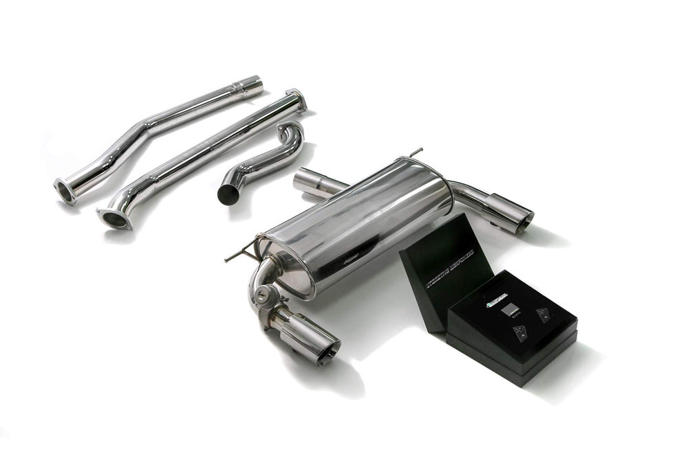 ARMYTRIX Stainless Steel Valvetronic Catback Exhaust System Dual Chrome Silver Tips BMW 340i | 440i F3X 2016-2020