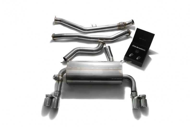 ARMYTRIX Stainless Steel Valvetronic Catback Exhaust Quad Chrome Silver Tips 335i | 435i F3X 2012-2015