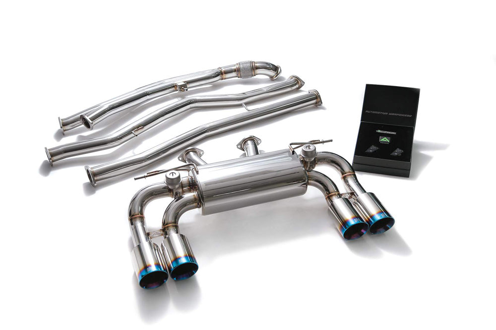 ARMYTRIX Stainless Steel Valvetronic Catback Exhaust System Quad Blue Coated Tips BMW M2 F87 2016-2020