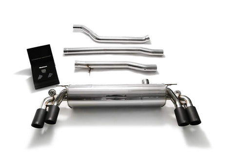 ARMYTRIX Stainless Steel Valvetronic Catback Exhaust System Quad Matte Black Tips BMW 550i G30 | G31 2017-2020