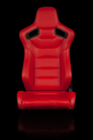 BRAUM ELITE SERIES RACING SEATS (RED) – PAIR