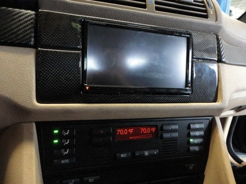 Carbon Fiber Double Din Bezel for the BMW E39 M5 - Interior - Studio RSR