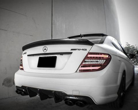 Mode Carbon Coupe Bootlid Spoiler Mercedes Benz C63 W204 - Aerodynamics - Studio RSR - 1