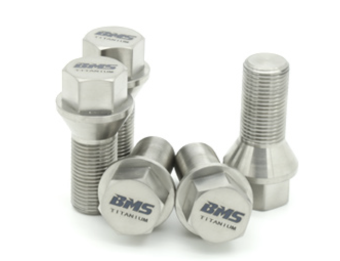 Titanium Lug Bolts for BMW by BMS - 20 Bolts - M12X1.5 (E Chassis)