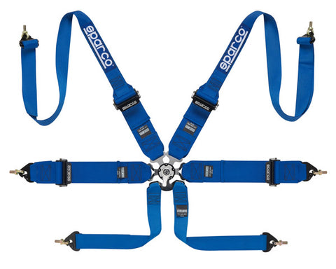 Sparco Competition 6-Point Harness HANS Compatible Blue