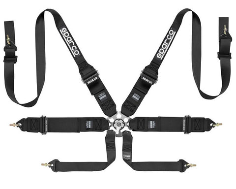 Sparco Competition 6-Point Harness HANS Compatible Black