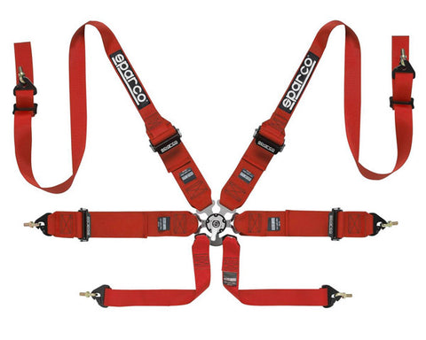 Sparco Competition 6-Point Harness HANS Compatible Red
