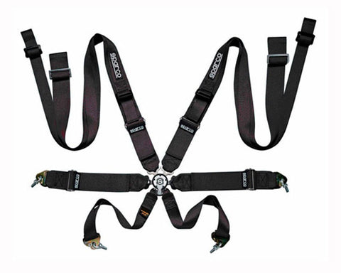 Sparco Competition 8-Point Double Shoulder Harness Black
