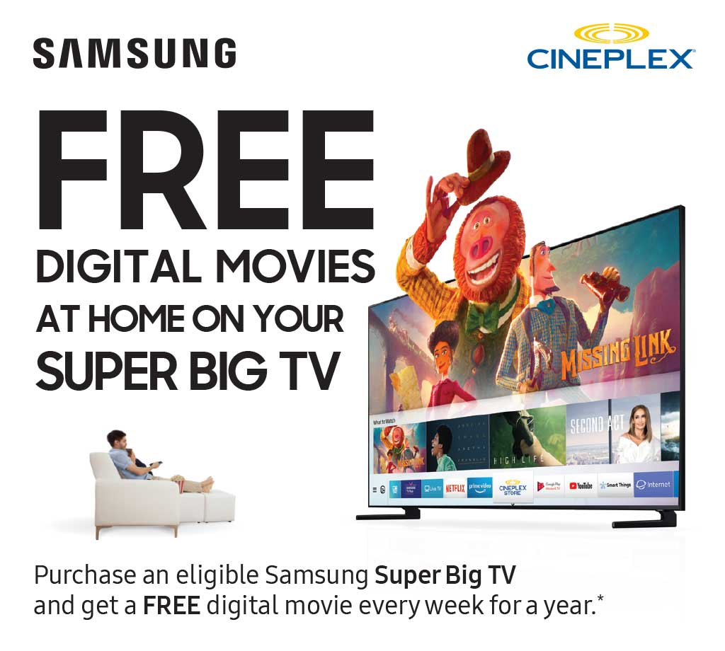 Free Digital Movies at Home on your Super Big TV