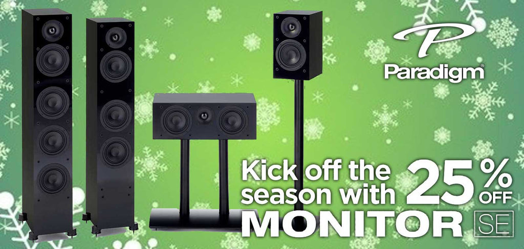 Kick off the season with 25% off Paradigm Monitor SE Speakers