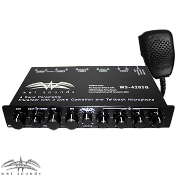 Wet Sounds WS-420SQ 4 Band Parametric Equalizer with 3 Zone Operation - Advance Electronics  - 1
