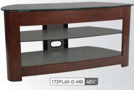 Sonora 173PL40-D-MB Wood and Glass Stand - Advance Electronics  - 1