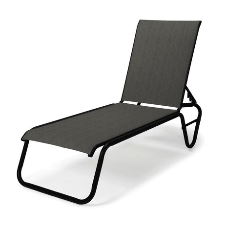 Telescope Gardenella Sling Four-Position Lay-flat Stacking Armless Chaise