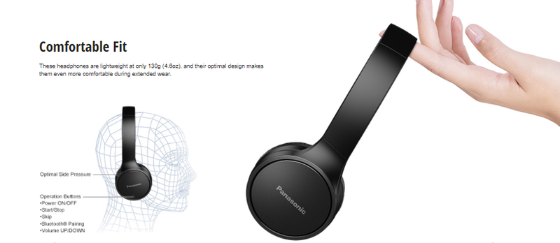 Panasonic RP-HF400B Wireless Headphones