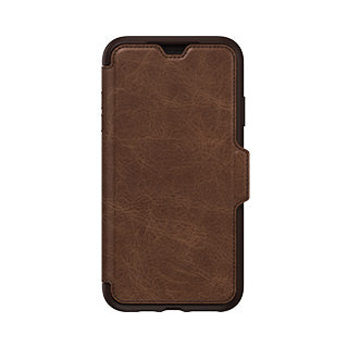 OTTERBOX LEATHER STRADA FOLIO CASE iPHONE XS MAX - BROWN/BROWN (ESPRESSO)