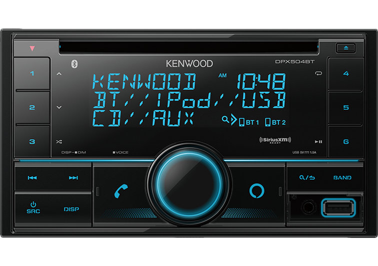 Kenwood DPX504BT 2-Din CD Receiver with Bluetooth