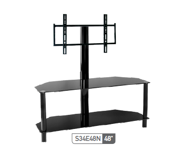 Sonora S34E48 Metal and Glass Stand with TV Mount