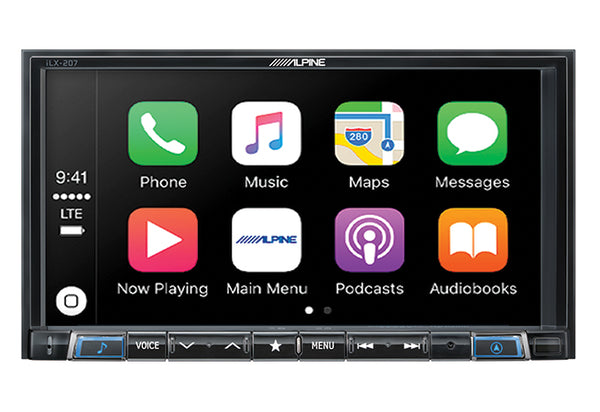 "Alpine ilX-207 7"" MechLess Audio/Video Receiver"