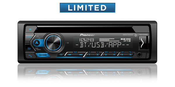 Pioneer DEH-S4220BT CD Receiver with Improved Pioneer Smart Sync App Compatibility, MIXTRAX®, Built-in Bluetooth®