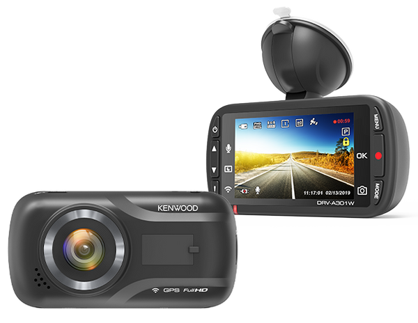 Kenwood DRV-A301W Dashboard Camera with Wireless Link