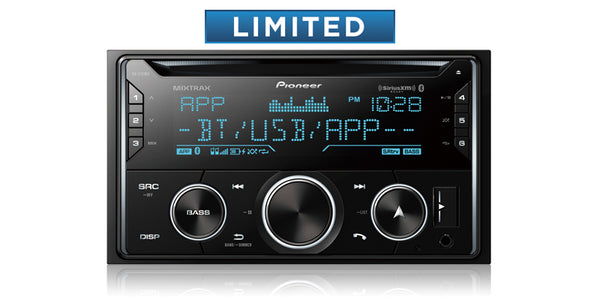Pioneer FH-S722BS Double DIN CD Receiver with Enhanced Audio Functions, Improved Pioneer ARC App Compatibility, MIXTRAX®, Built-in Bluetooth®, and SiriusXM-Ready™