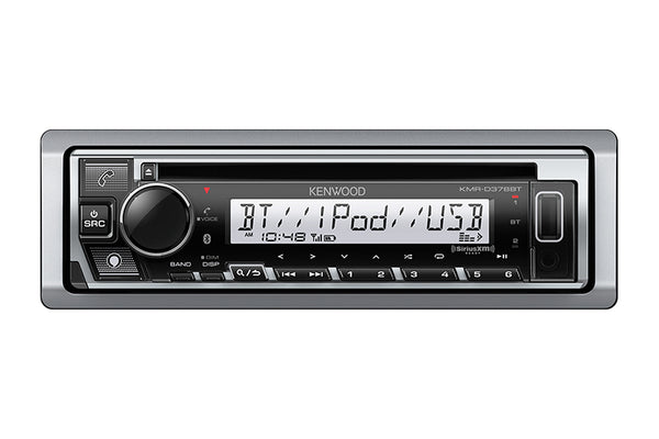 Kenwood KMR-D378BT Marine/Motorsports CD Receiver with Bluetooth
