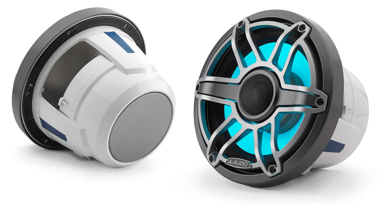 JL Audio M6-880X 8.8-inch (224 mm) Marine Coaxial Speakers with Transflective™ LED Lighting